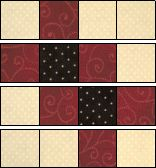 Arrowhead Puzzle (aka Garlic Knots) : with 3 squares makes a 12 finished block Scrap Quilt Patterns, Beginner Quilt Patterns, Quilting Tutorials, Pattern Blocks, Quilting Ideas, Cute Quilts, Scrappy Quilts, Easy Quilts, Mini Quilts