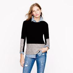 Woven panel sweater in black Secret Sale: 25% off any order at jcrew.com code: SECRET