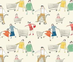 shopping fabric by redcheeksfactory on Spoonflower - custom fabric