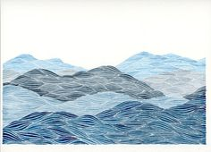 Blue Ridge Mountains I Original Watercolor by KeelyFinnegan, $150.00
