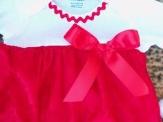 Baby Girl 2 Piece Layette Gown Set - Red Crushed Velvet. $37.99, via Etsy.