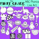 ABC Phonics Digital Line Art