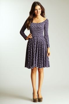 Classic silhouette with fun geometric print!  Rachel Pally Tegan Dress in Oyster Arcade  $194