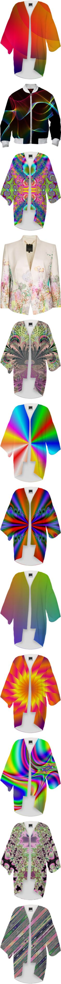 * #OUTERWEAR: #RAINBOW & #MULTICOLORED * by artist4god-rose-santuci-sofranko on Polyvore featuring polyvore, fashion, clothing, intimates, robes, kimono, kimono robe, accessories, outerwear, jackets, light pink, floral jacket, collarless jacket, light pink jacket, ted baker, ted baker jacket, purple kimono, purple robe, sash belt, striped, satin kimono robe, satin kimono, satin robe, boho kimono, parties, beach kimono, beach robe, flowers, flower kimono, flower robe, pink kimono robe, yellow…