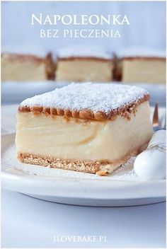 Cute Desserts, Cookie Desserts, No Bake Desserts, Sweet Recipes, Cake Recipes, Dessert Recipes, Easy Blueberry Muffins, Polish Desserts, Kolaci I Torte