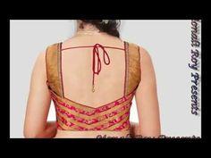 latest saree blouse back neck designs - YouTube