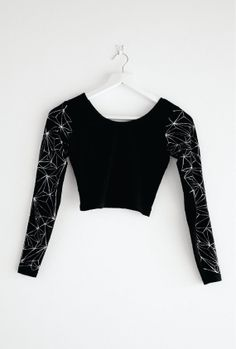 Hand Painted Geometric Long Sleeve Crop Top on Etsy, $47.86