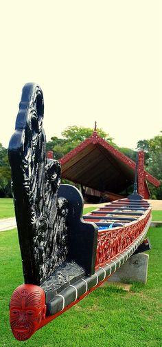 Waka Taua - Maori War Canoe - Aotearoa