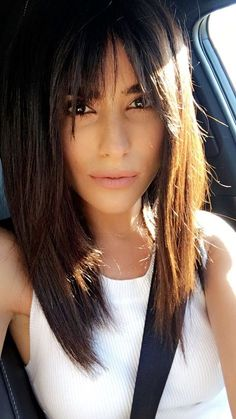 sazan hair, haircut, bangs, fall trends, hair trends, blogger, beauty, lee rittiner, straight hairstyles, hairstyles for, how to, style, tips, beauty, makeup, bridget bardot, modern bangs hairstyles, modern, bang, summer #BangsHairstylesLong