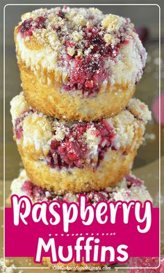 These muffins can be made in minutes for those unexpected guests or quick breakfast. Start your mornings off right with these hearty muffins made with fresh raspberries and a crumb topping that is to die for! Muffin Recipes, Baking Recipes, Snack Recipes, Dessert Recipes, Snacks, Healthy Recipes On A Budget, Budget Meals, Baking Ideas, Kitchen Recipes