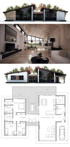 House Plans in Modern Architecture.
