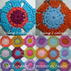 The 8th Gem: WEEK 7 GRANNY...mini Octagon - see the blg for more info