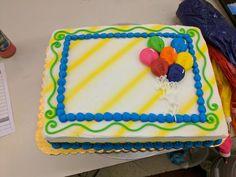 Balloon design sheet cake #flowercakes