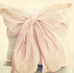 I LOVE this little romantic bow pillow. #Swoon  You Can Find It Here: http://rstyle.me/n/nxm9imxbn