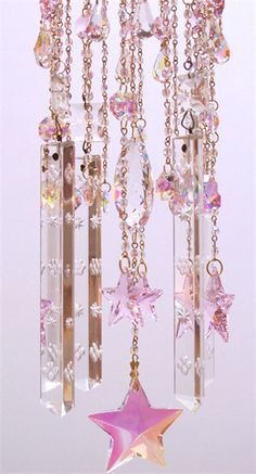 crystal wind chimes | Star Light Vintage Crystal Wind Chime | Sheris Crystal Designs