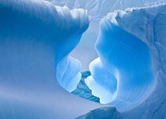 Blue Ice Cave in Antarctica