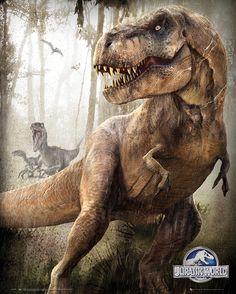 T-Rex e Indominus Rex en nuevos pósters de 'Jurassic World' | Cinescape