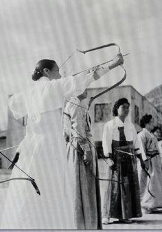 In 1953 Koreans enjoyed to archery even women