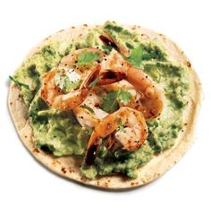 Garlic Shrimp Fajitas with Guacamole