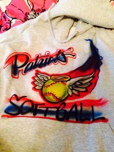 My amazing sweatshirt for softball  (In love)