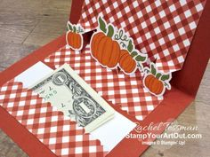 Fancy Fold Cards, Folded Cards, Card Making Machine, Create Christmas Cards, Stampin Up Paper Pumpkin, Pumpkin Cards, Candle Packaging, Fall Cards, Pop Up Cards
