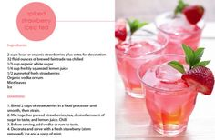 Spiked #Strawberry Iced #Tea Recipe