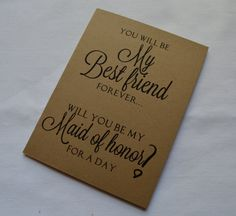 You will be my BEST FRIEND FOREVER by invitesbythisandthat on Etsy