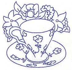 jacobian floral line drawings - Google Search