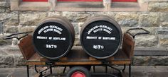 Barrells outside the Aberlour Shop