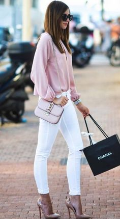 Looks con jeans blancos