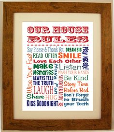 Personalised Family House Rules Word Art Gift By Artyalphabet