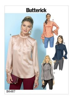 fd157d680ec3 Butterick 6487: View D is especially good for the Soft Classic; the neck has