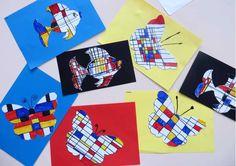 Mondriaan kunst, thema kunst voor kleuters, inclusief sjablonen, kleuteridee.nl , Art theme preschool Mondrian