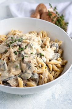 Creamy Tofu Garlic Mushroom Pasta Calling all pasta lovers! Our new recipe for Creamy Garlic Mushroom Pasta with Mori-Nu Silken Tofu is luscious and decadent and perfect for a cozy fall dinner at home. Vegan Dinner Recipes, Pasta Recipes, Whole Food Recipes, Vegetarian Recipes, Cooking Recipes, Healthy Recipes, Vegan Vegetarian, Mushroom Recipes, Mushroom Tofu Recipe