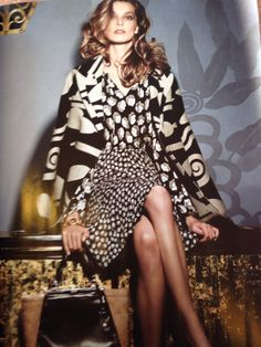 Patterns on patterns are still popular, but keep them in the same color family for cohesiveness. Photo: Sept Issue Vogue