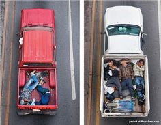 Mexican workers in Pickups by Alejandro Cartagena. More images here: http://www.angryboar.com/?p=14588