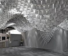 MIT Cristina Parre�o Architecture creates stunningly rippled Paper Chandeliers