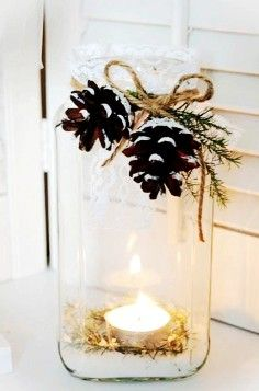More pinecones! And a use for my mason jars