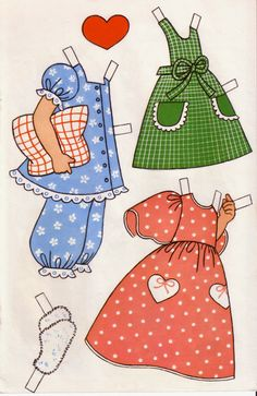 Maria, a Carlsen greeting card paper doll from Denmark (4 of 6) | Lorie Harding | Picasa Webalbum
