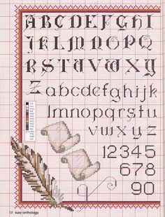 Cross-stitch alphabet