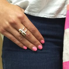It's your one-piece dress-up solution. A statement ring makes jeans and a tee an outfit. #style #fashiontrends
