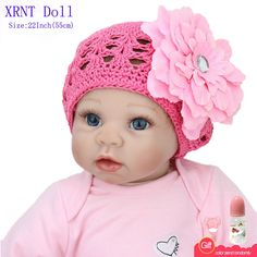 (76.92$)  Watch more here - http://ai28x.worlditems.win/all/product.php?id=32791643212 - 22 Inch Lifelike Realistic Princess Dress Newborn Babies Toys For Girls Soft Like Silicone Reborn Baby Doll