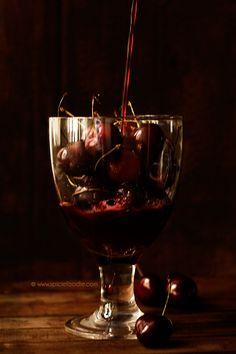 Black Cherry Wine by @SpicieFoodie | #cherry #wine #fruit #summer