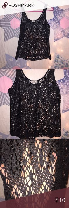 Kirra ( black w/ gold sparkles ) laced tank Looks brand new💎 worn once.                           Can fit a size small or xsmall 💕                            *bundle&SAVE💰                                                If you have any questions feel free to ask:-)          Offers are welcome ✨ Kirra Tops Tank Tops
