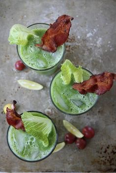 Spicy BLT Green Bloody Mary — 14 Spicy Cocktail Recipes to Add a Kick to Your Weekend : brit+co.