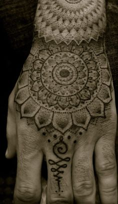 Mandala Tattoo by Kairy-Ma, via DeviantArt || Mandala on Hand by Jondix