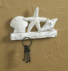 Tropical Starfish Seashells Metal Wall Key Hook Hanger by Park Designs, http://www.amazon.com/dp/B004TDGP62/ref=cm_sw_r_pi_dp_IdKXrb0AF9JDF