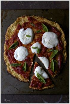 Thyme: Cauliflower Crust Pizza...Yes! That's Right...No Grain Crust