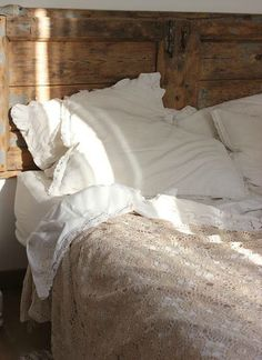 even if you skimp on the big things, the little things can bring an amazing transformation... like comfortable bedding....