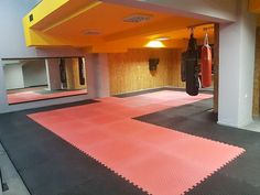 Basement Flooring, Mat Exercises, At Home Gym, Cool Kids, Home Decor, Decoration Home, Room Decor, Fitness At Home, Home Interior Design